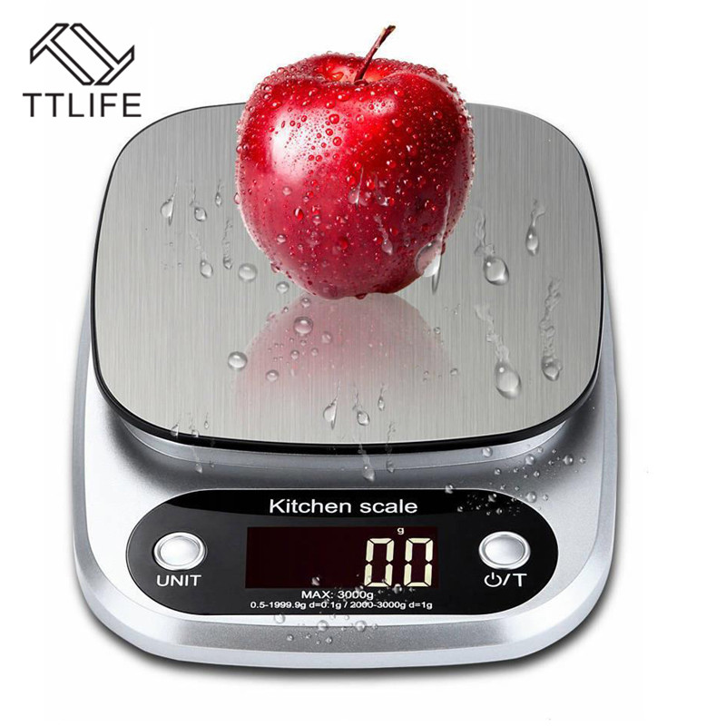 TTLIFE Balance Cuisine Electronic Digital Kitchen Scales Food Scale Gadgets Electronic Scale Grams Kitchen Tool Scale .1g(China)