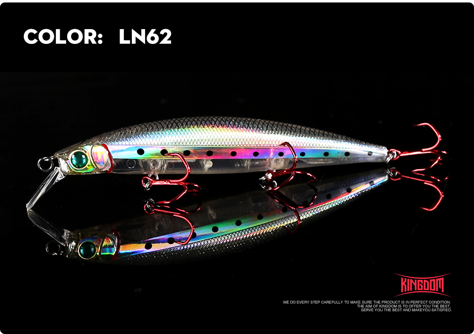 Kingdom Fishing lures 10g90mm 23.5g128mm Floating Minnow and Pencil Switchable Lilps artificial baits for sea bass wobblers 5358 (14)