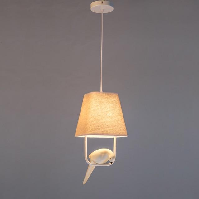 Moderne Hanglampen Vogels Stof Lampenkap Woonkamer Eetkamer Loft Led ...