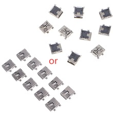 10 Pcs Mini USB Type B 5 Pin Female Socket Connector For Mobile Phone Charging