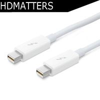 Thunderbolt to thunderbolt Cable cord 2M thunderbolt male to thunderbolt male in white color(never used)