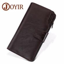 JOYIR Wallet Male Leather Genuine Vintage Long Clutch