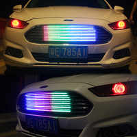 Car colorful RGB network lights Grill Breathing light Daytime running light with Turn signal and Brake signal Atmosphere light