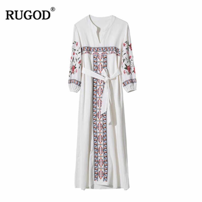 カジュアルホリデーインディーロング flok ドレス女性手首スリーブストレートエスニック女性 cloting 白赤プルオーバーボールのドレスの女性