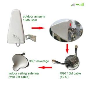 Image 5 - AYS 4g dcs 3g wcdma 2g gsm מהדר מאיץ טלפון נייד מגבר אווירי ערכת טלפון נייד אות 900 1800 2100 סגסוגת LCD תצוגה