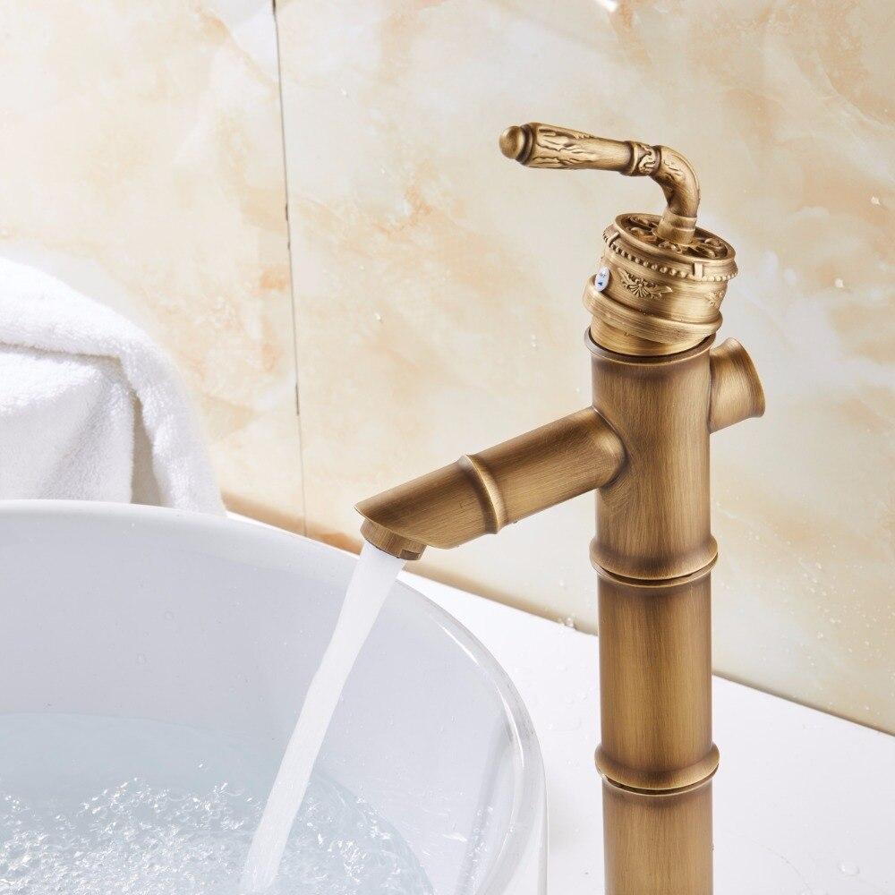 Modern Design Bamboo Antique Brass Faucet Fshion Basin Faucets ...