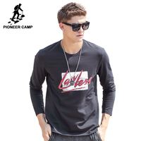 Pioneer Camp T Shirt Men Long Sleeve 2017 New Spring Brand Clothing High Quality Round Neck
