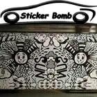 Black & white, carina, sorridente viso car styling sticker bomb vinile dell'involucro dell'automobile della bolla di aria libera per auto barca wrapping decalcomania coperture - 1