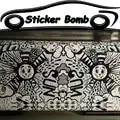Negro y blanco linda cara sonriente coche estilo pegatina bomba vinilo coche envoltura burbuja libre de aire para coche etiqueta cubre