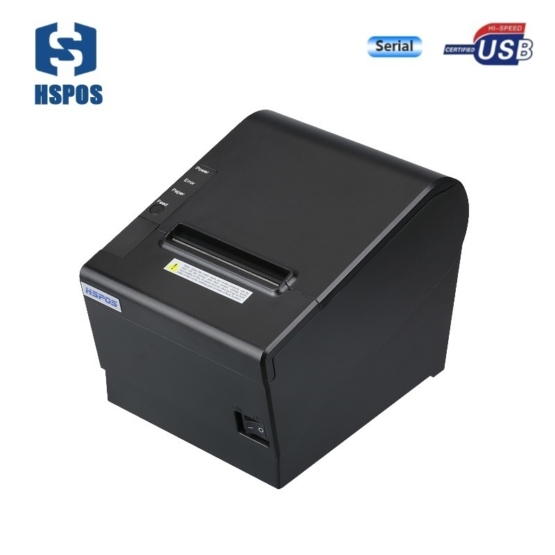 3 inch pos receipt printer thermal billing printing with usb + serial port with cash drawer interface auto cutter wholesale brand new 80mm receipt pos printer high quality thermal bill printer automatic cutter usb network port print fast