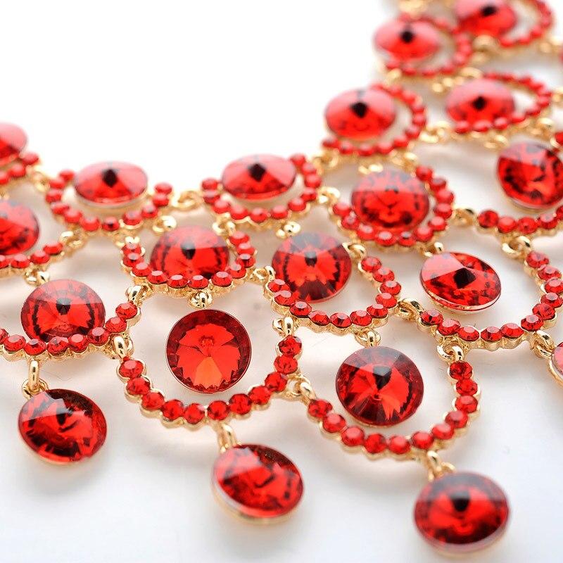 Free Shipping Fashion Crystal Bridal Necklace Set Imitated Diamond