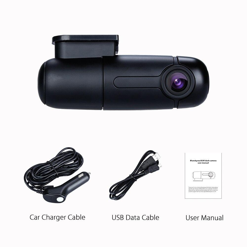 Blueskysea Dash Cam Mini caméra de voiture WiFi Full HD DVR 1080P 360 degrés MP4 rotation condensateur g-sensor Novatek GM8135S caméra de bord