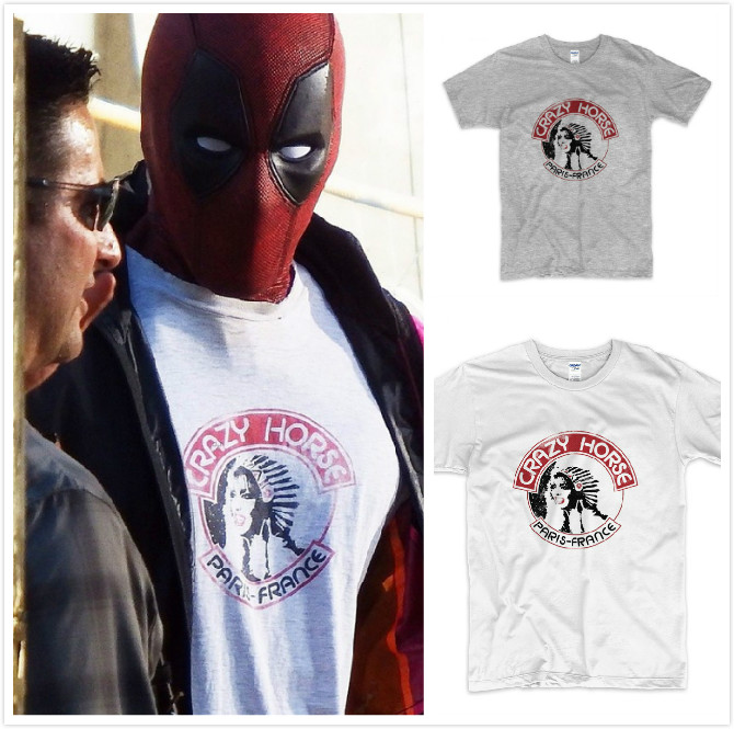 New Hot Movie Deadpool 2 T shirt Cosplay Costumes Deadpool Tanks Cotton Print T-shirt Superhero Short Sleeve shirts Top Tee