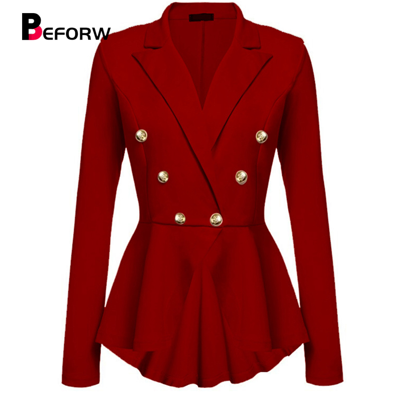 BEFORW Korean Fashion Elegant Suit Jacket Women's Lapel V