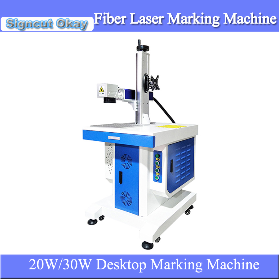 20W 30W Desktop Fiber Laser Metal Marking Machine Used For Jewelry Bracelet Necklace DIY Logo Engraving For Sale