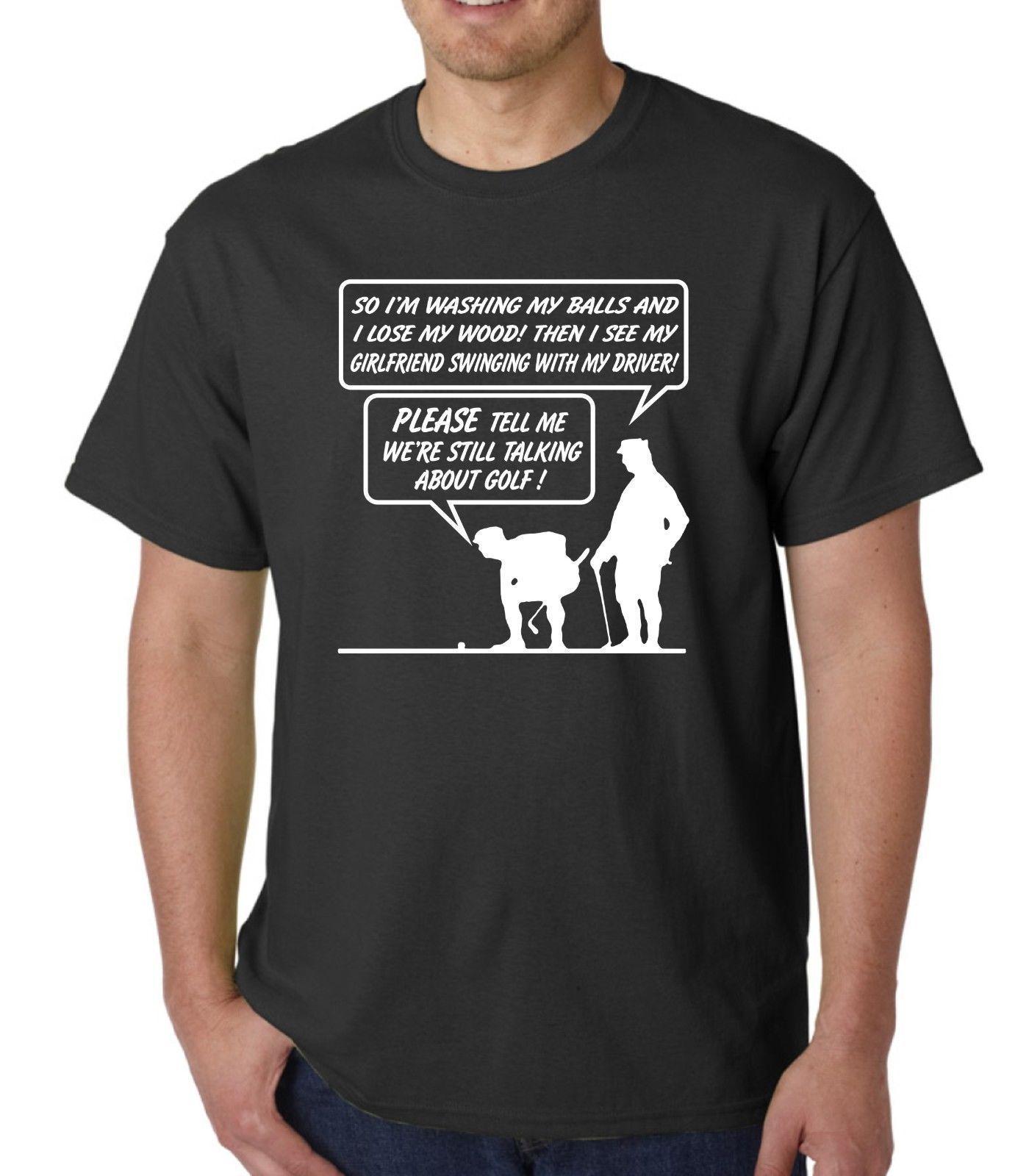 Print T-Shirt Men Summer top tee golfed slogan funny slogan t shirt or hoody various colours