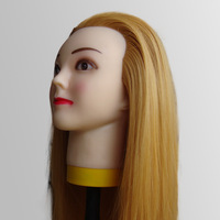 High Quality Hairdressing training Head With Hair Makeup Face For Hairdressing Styling Cutting Mannequin Head Usage