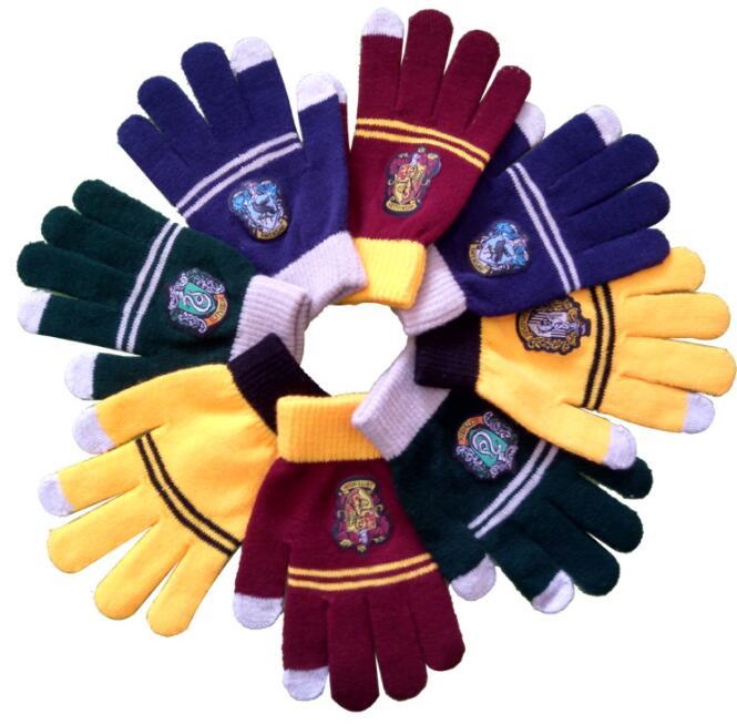 Harri Cosplay College Gloves Gryffindor Glove Winter Warm Gloves Cartoon Halloween Gift Touch Screen Magic Toys