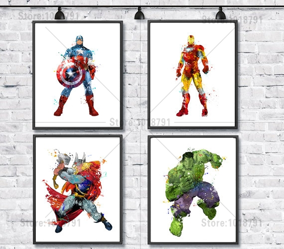 5D DIY Diamond Painting Iron Man Captain America Hulk Home Decoration Diamond Embroidery Cross Stitch Rhinestone