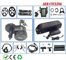 Free shipping 8FUN/Bafang BBS02B 48V 500W mid drive motor kits with Lithium ion 48V 12.8Ah Hailong down tube battery pack цена и фото