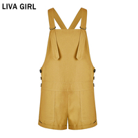 LIVA GIRL Women Playsuit Bib Pants Summer 2018 Fashion Feminino Cute Rompers Women Multicolor Jumpsuit Shorts Female Overalls