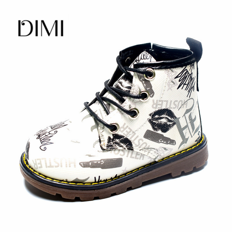 2018 Spring/Autumn New Children Boots For Girls Boys Baby PU Leather Zip Side Breathable Fashion Rubber Kids Martin Boots 21-302018 Spring/Autumn New Children Boots For Girls Boys Baby PU Leather Zip Side Breathable Fashion Rubber Kids Martin Boots 21-30