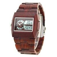 BEWELL Wood Watch Men Multifunctional electronics mens watches top brand luxury relogio masculino No LOGO horloges mannen Gift