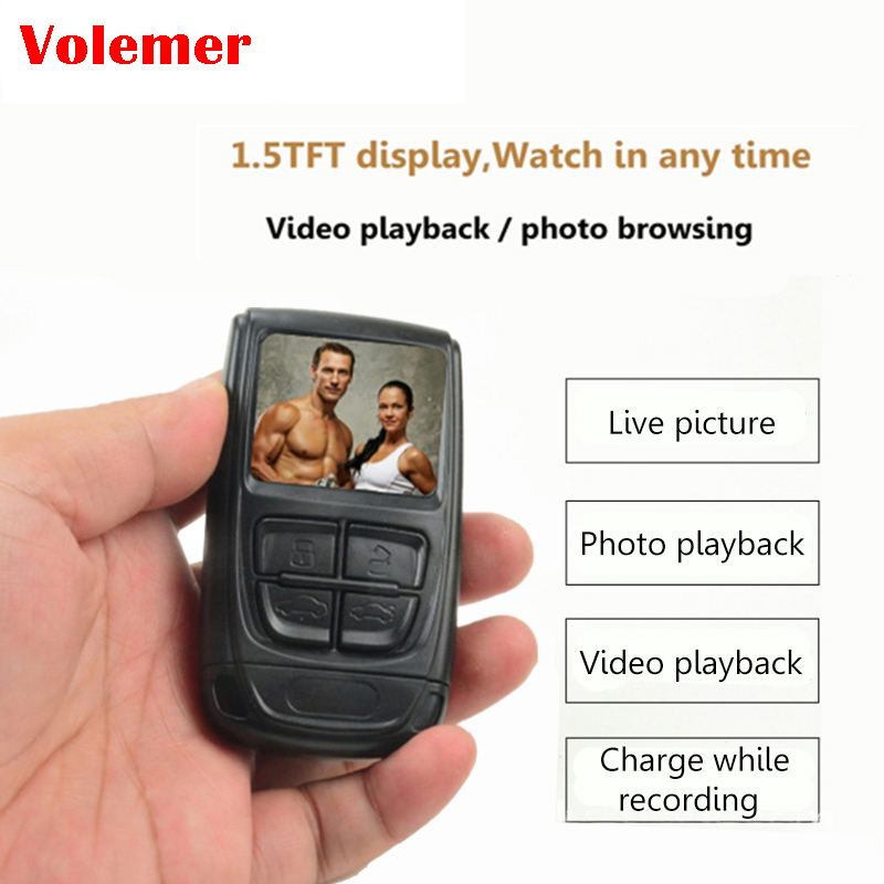 Volemer T192 1080P Mini Camera With Screen Sport DV Camera Work Long Video Invisible Cam Support MAX 128G Camcorder PK T189