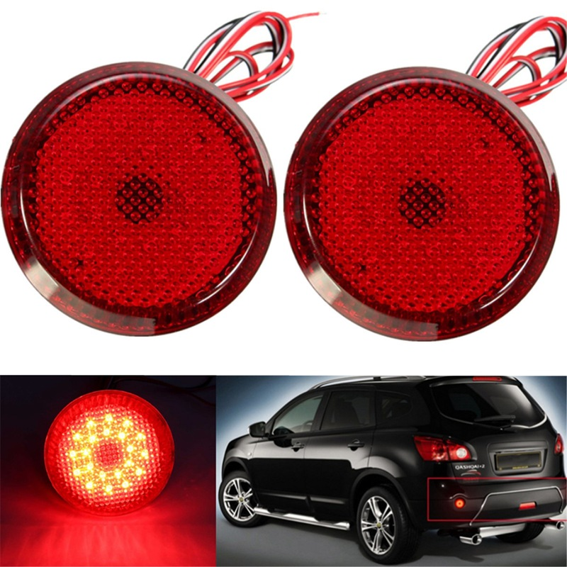 Hot LED Rear Bumper Reflector Tail Brake Light DC12V Parking Warning Bumper Lamp For Scion xB iQ/Toyota Sienna Corolla 2x led car styling red rear bumper reflector light fog parking warning brake tail lamp for toyota vellfire alphard 30 series