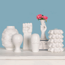 Estatua de Musas creativas de cerámica blanca nórdica, decoración para el hogar, manualidades decorativas, decoración de habitación, figuritas de porcelana vintage, regalo de decoración de boda