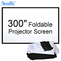 Newpal 300 inch 16:9/4:3 Projector Screen Draagbare Opvouwbare Stof Front Projector Screen Zonder Frame Voor Outdoor Home Cinema