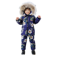Kids Clothes Boys Winter Luxury Brand 2 8 Age Children Jackets Two Piece Set Warm Fur Down fur Outerwear+Trousers Ski Suit