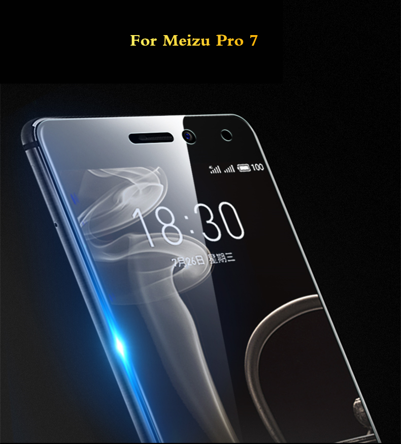2Pcs/lot Full Tempered Glass For Meizu Pro 7 Plus 9H Anti Blu-ray Screen Protector For Meizu Pro 7 plus Glass Protective Film