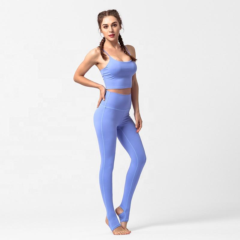 OEM Compression Elastic Gym Wear Custom Tight Women Slimming Running Yoga Sets