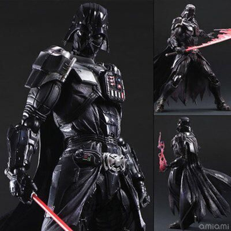 все цены на Star Wars Action Figure Playarts Kai Darth Vader Toys Collection Model PVC 275mm Star Wars Vader Play arts Kai kb0336 онлайн
