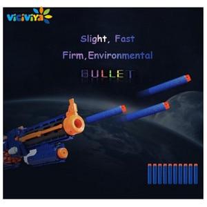Image 3 - VICIVIYA 100Pcs רך צעצוע אקדח כדורים עגול ראש אוויר חור חצים קצף כדור 7.2cm