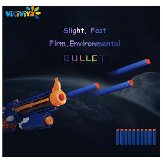 VICIVIYA 100Pcs Soft Toy Gun Bullets Air Hole Foam Refill Darts Bullet 7.2cm for N-strike Elite Series Blasters Toy Gun Bullet