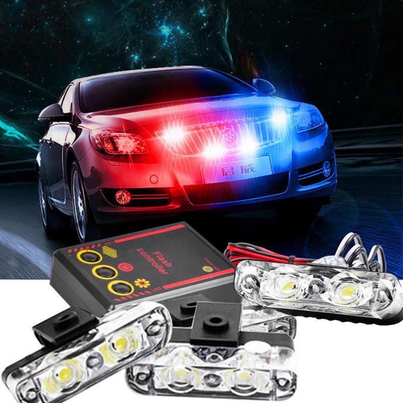 4*4led high power Vehicle Strobe Lights 16LED Flash lamp