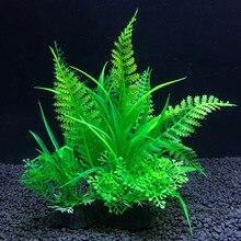 Имитация искусственных растений, декор для аквариума, водные сорняки, украшение для растений, аквариумных рыб, травы 14 см, украшение