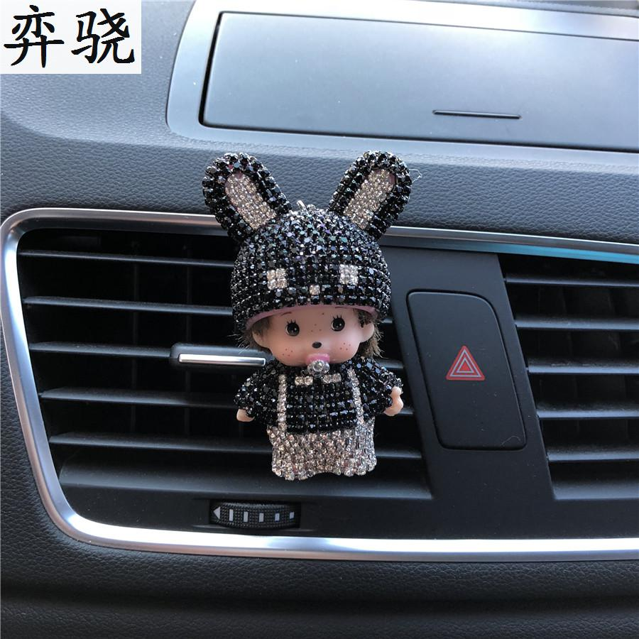 Rhinestone Bunny girl Car Perfume Ornaments Lady Car Air Freshener Cute Little Car Styling Rabbit hat Perfumes 100 Original