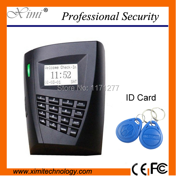 Free software SC503 ID card access control system 100000 logs capacity  LCD display for house small office and factory kitavt75417unv10200 value kit advantus id badge holder chain avt75417 and universal small binder clips unv10200