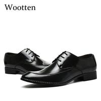 adult men dress shoes plus size leather wedding business formal elegant luxury designer office social formal shoes men #8861