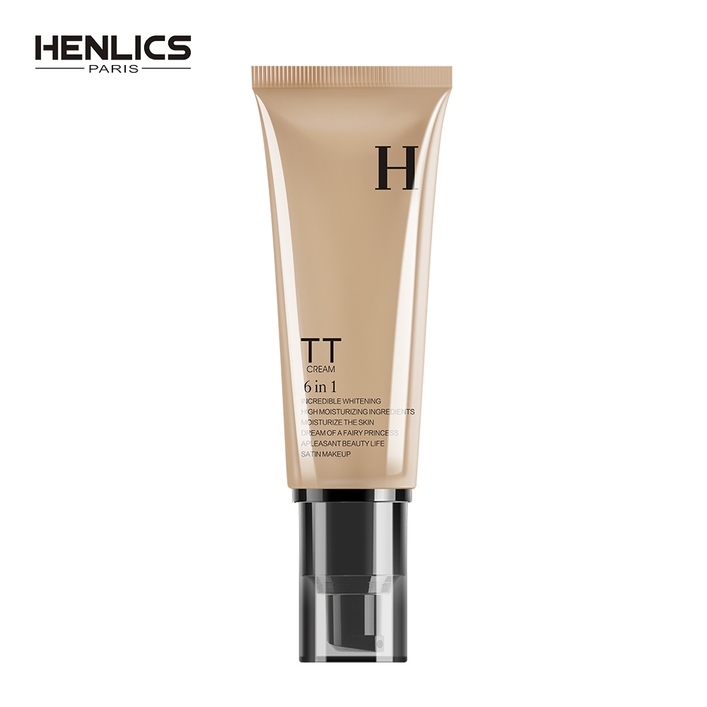 HENLICS Skin Care Whitening Snail TT Cream 50ml Face Makeup BB CC Cream Nude Make up Concealer Foundation Moisturizing BB Ceram цена