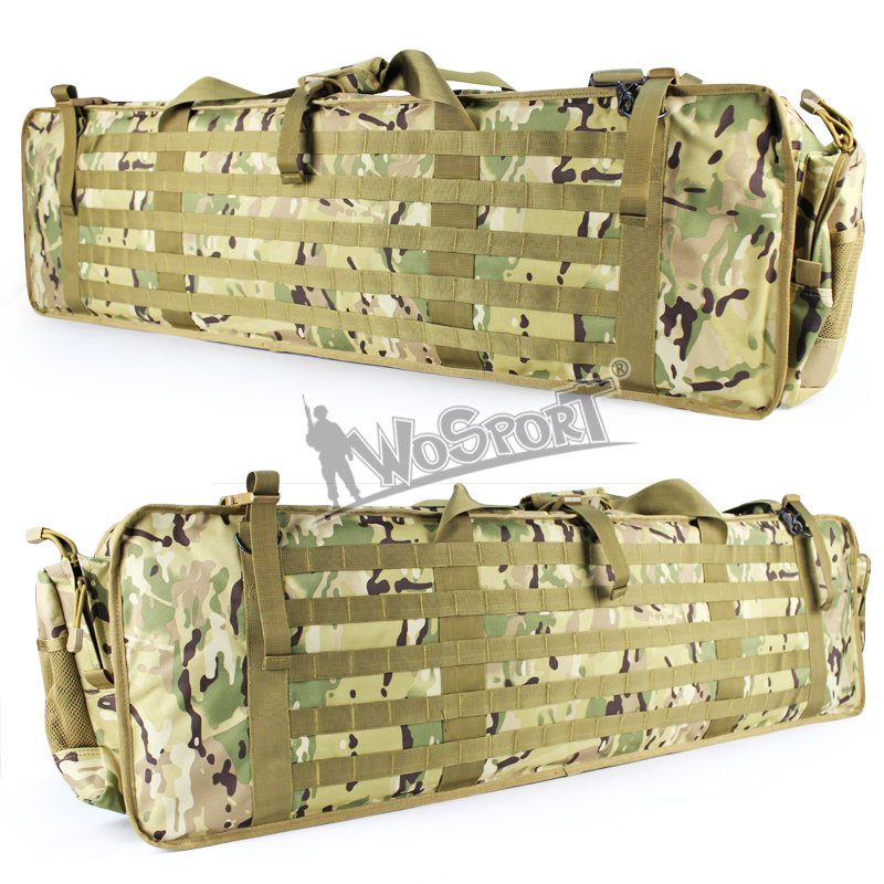 Durable 115cm Tactical Outdoor Bags 600D Oxford Feature Pack Military Army Airsoft CS War Game Rifle Functional Pack Outdoor Bag