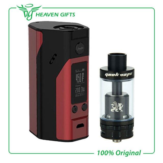 Original wismec reuleaux rx200s mod 200 w con geekvape griffin 25 rta 6 ml e-cig de control de flujo de aire inferior kit de control de temperatura