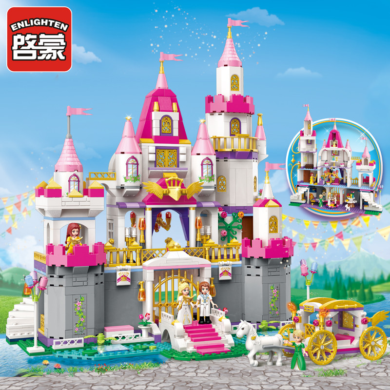 ENLIGHTEN 2612 Girls Friends Princess Leah Angel Castle Figure Blocks Construction Building Toys For Children Compatible Bricks princess ponies 6 best friends for ever