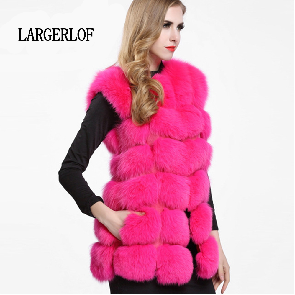 2de2d99dd31a0 Rouge 2019 Rose 2018 Vt57001 En Largerlof white Renard black Fourrure  Gilets Fausse Pour Manteau Red ...