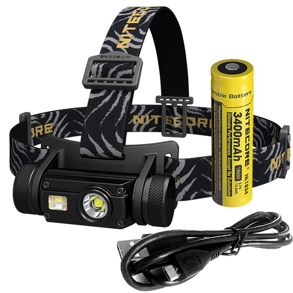 NITECORE HC65 USB Rechargeable Headlamp XM L2 U2 max 1000 lumen beam throw 110 meter headlight