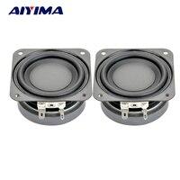 2Pcs 2 5Inch Audio Speakers DIY Portable Speaker 4Ohm 10W 20MM Subwoofer Aluminum Tube Voice Coil