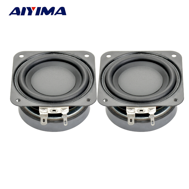 1241bd54e 2Pcs 2.5Inch Audio Speakers DIY Portable Speaker 4Ohm 10W 60MM Subwoofer  Aluminum Tube Voice Coil PP Pots PU Side Speakers